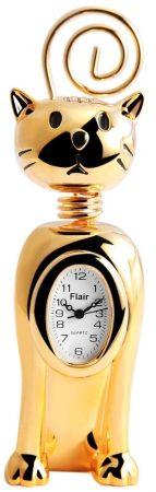 Flair miniatűr macska óra