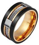 Akzent férfi rozsdamentes acél gyűrű